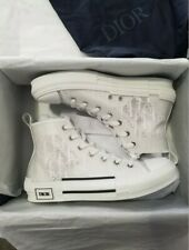 Dior B23 White High Top Oblique Sneakers EUR Size 42 US Size 9