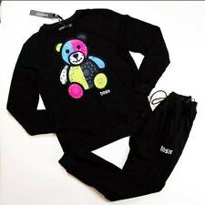 Men hudson 100%authentic 2p set crewneck sweater & pants Black size large