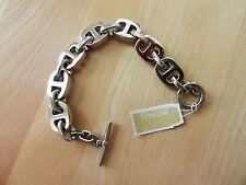 Michael Kors Silvertone Maritime Link Toggle Bracelet MSRP $125