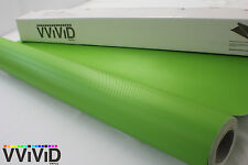 Lime Green Carbon Fiber Vinyl 5ftx22ft Air Release Decal Sticker Sheet LGCF3M