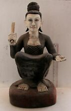 MASTERPIECE..LARGE 19th.c Mandalay Period Teak Wood  Buddhist Nat Angel