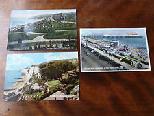 Lot19m 3x POSTCARDS of EASTBOURNE South Cliff, HOLYWELL & Band Enclosure & PIER