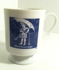 VINTAGE MORTONS SALT 1914 UMBRELLA GIRL ADVERTISING COFFEE MUG CUP