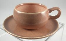 AMERICAN MODERN - Deep Coral - A.D. CUP & SAUCER - Minty! - Russel WRIGHT!
