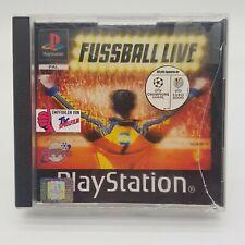 Fussball Live PS1 Playstation 1 BL WM EM Soccer Game  Champions League # RAR #