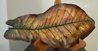 "Autumn Leaf Sculpture Signed Numbered Dated by Artist 16"" RARE"