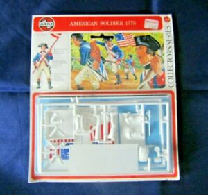 Airfix 54mm American Soldier 1775 Sealed Model Kit With Flag Option (C)