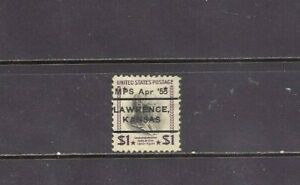 KANSAS Typeset Precancel: $1 Prexy - Lawrence L-3 ITS (# 832)
