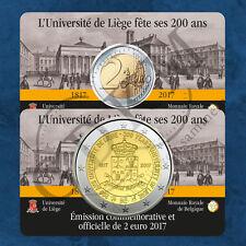 Belgien - Universität Lüttich - 2 Euro 2017 Coincard Französisch - Auflage 87500