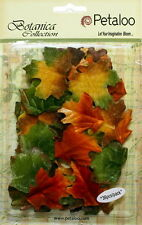 VELVET Fabric FALL Colours Mix 36 LEAVES Approx between 30x45mm Petaloo 1161-300