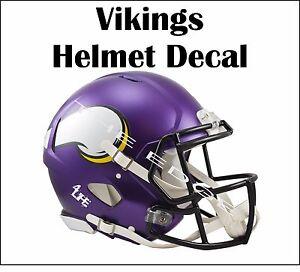 "Minnesota Vikings 4Life  6"" NFL Car Window Or Wall Vinyl Glossy Helmet Decals"