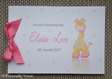 PERSONALISED GIRAFFE BABY SHOWER -CHRISTENING - NAMING CEREMONY - GUEST BOOK -