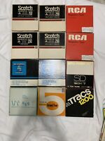 """Lot Of 12 VINTAGE SCOTCH & more 150 MAGNETIC REEL TO REEL TAPE 7"""" x 1/4"""""""