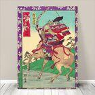 "Awesome Japanese SAMURAI ARCHER ON HORSE WARRIOR Art CANVAS PRINT 36x24""~ #212"