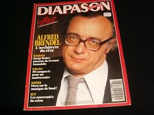 DIAPASON FRENCH MAGAZINE<> MAY 1988  #338 <> ALFRED BRENDEL