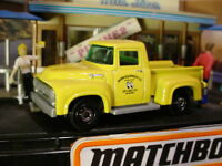 2018 COFFEE CRUISERS '56 FORD PICKUP☆yellow truck;MOONEYES (ړײ) Matchbox LOOSE