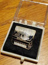 Vintage Black White Enamel Giulietti Lapel Pin Accordion Instrument Salesman