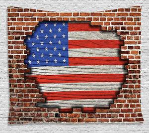 USA American Flag Art Wall Hanging Tapestry for Bedroom Living Room Dorm Decor