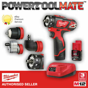 Milwaukee M12BDDXKIT-202C 12V Removable Chuck 4-In 1 Drill Driver Kit With 2 X B
