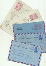 Middle East Collection 5 Different Postal Stationary Aerogramme 1960's-70's Used
