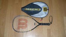 Wilson Mach 3 Raquet Ball Raquet with matching carry case