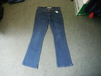 "Dorothy Perkins Bootcut Jeans Size 10R Leg 30"" Faded Dark Blue Ladies Jeans"