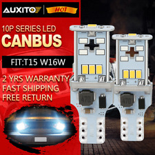 AUXITO T15 921 W16W 912 CANBUS Tail LED Reverse Back up Light Bulb 1200LM White