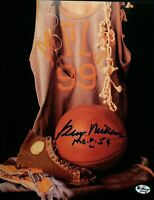 "George Mikan Signed 8X10 Autograph Vintage Photo Collage Lakers ""HOF 59"" COA"