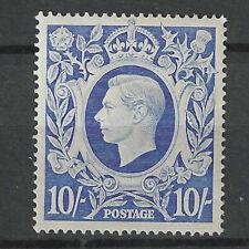GREAT BRITAIN  KING GEORGE VI 1939 10/- ULTRAMARINE STAMP MINT MNH