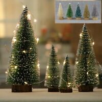 24Pcs Mini Christmas Tree Decor Cedar Ornaments Desktop Trees Party Miniature UK