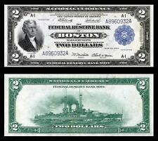 NICE CRISP UNC. 1918 $2.00 FEDERAL RESERVE COPY NOTE READ DESCRIPTION!