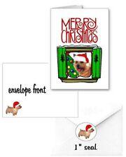 30 Norwich Terrier Christmas cards seals envelopes 90 pieces Window design