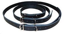 3 Stück Bondage Gurt Set Fessel m. D-Ring Echt Leder schwarz Fessel-Set neu