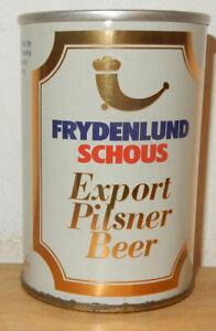 FRYDENLUND SCHOUS Straight Steel Beer can from NORWAY (27,5cl) Empty !