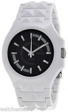 Diesel DZ-1645 Stud Black Dial White Plastic Strap Men's Watch