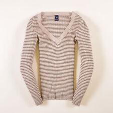 GAP Damen V-Neck Pullover Sweater Gr.M (DE 38) Grün Beige, 41617