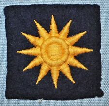 WWII 40th Infantry Division Embroidery on Wool Patch