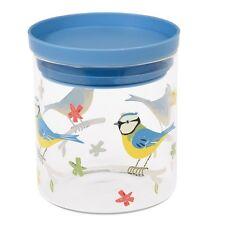 dotcomgiftshop BLUE TIT GLASS STORAGE JAR