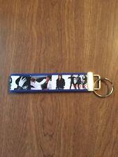 Michael Jackson Key Chain wristlet key fob holder Zipper