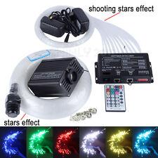 16W RGBW LED Fiber Optic Star Ceiling Light kit mixed 335 strands 4m+3 meteors