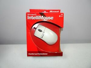 Microsoft IntelliMouse PS/2 PS2 Mouse Wheel Scrolling Ergo Design Open Box