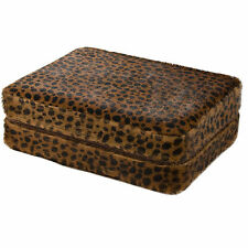 4 Watch Box Travel Case Snow Cheetah Pattern Zippered Storage Case Mens Gifts