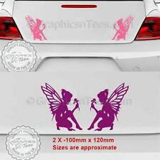 Fairy Pixie Sticker Car Bumper Body Vinyl Graphic Decal, Girly Car Stickers  X2