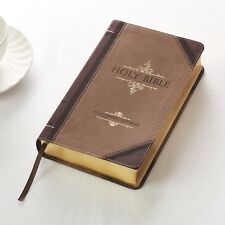 KJV Giant Print Bible Luxleather Brown Red Letter Edition BRAND NEW!!!!