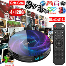 HK1 MAX+ Android 9.0 4+128G Qcta Core Dual WIFI TV BOX BT4.0 4K H.265 RK3368PRO
