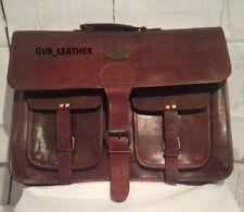 Very Typical Leather Vintage messenger laptop computer shoulder bag Briefcase