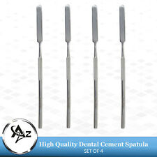 4 Pcs Dental Cement Mixing Single Ended Spatulas Lab Wax Modelling Instruments