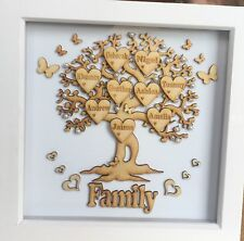 Personalized Family Tree Box Frame Anniversary Wedding House Baby Christmas Gift