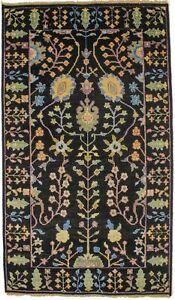 Osh Chobi Hand-Knotted Transitional 3X5 Floral Design Oriental Rug Decor Carpet