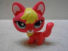 LITTLEST PET SHOP LPS #2642 HOT PINK YELLOW FOX TEAL EYES